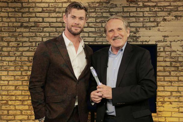 PHOTO: Chis Hemsworth appears on 'Popcorn with Peter Travers' at ABC News studios, June 13, 2019, in New York City. (ABC)