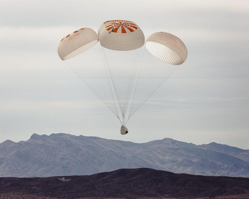 SpaceX Mark 3 Crew Dragon parachute test