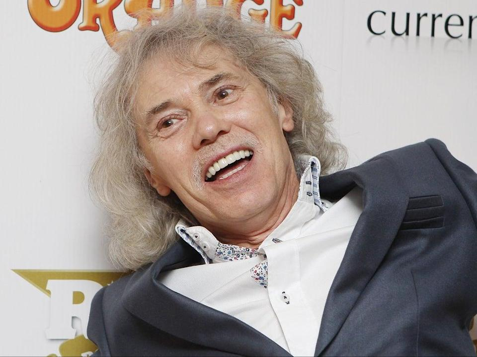 'Guitar god': Lancaster, pictured in 2012, played on 15 Quo albums up to 1985  (Getty)