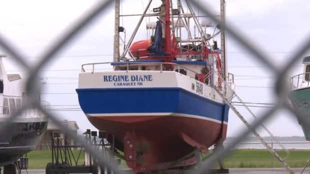 Raymond Noël's boat, Régine Diane, and fishing licence are at the centre of a family dispute now before the Court of Queen's Bench. (Alix Villeneuve/Radio-Canada - image credit)