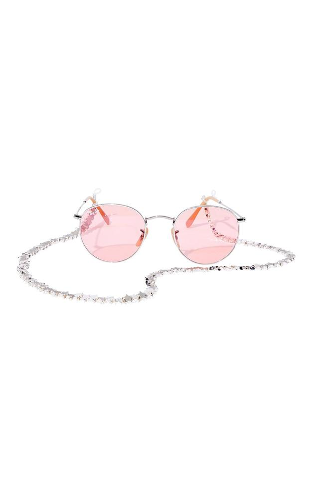 """<p>The combo of your dreams for a late summer concert or just hanging out after school. </p><p>Ray-Ban sunglasses, $183, <a rel=""""nofollow"""" href=""""https://www.ray-ban.com/usa"""">ray-ban.com</a></p><p>Tuleste sunglasses chain, $50, <a rel=""""nofollow"""" href=""""https://tuleste.com/"""">tuleste.com</a></p>"""