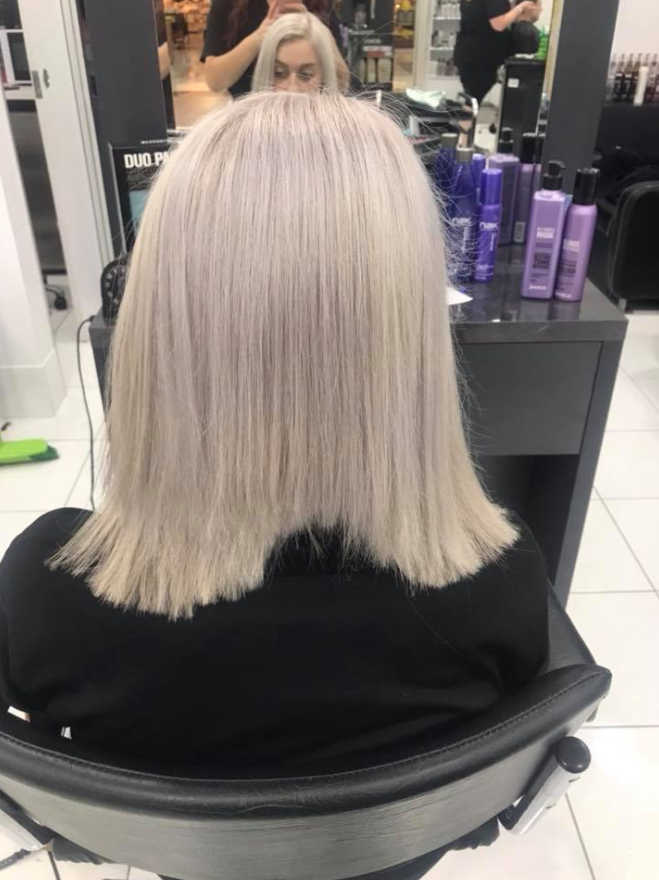 Danni says she paid $80 for this cut, and was completely unaware of what her hair looked like when she left. Photo: Facebook/dannidraper