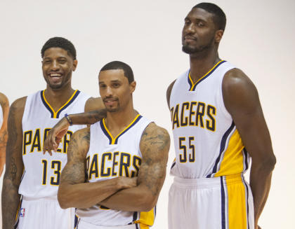 Could these three Pacers share the floor for a first-round series? (Trevor Ruszkowski-USA TODAY Sports)