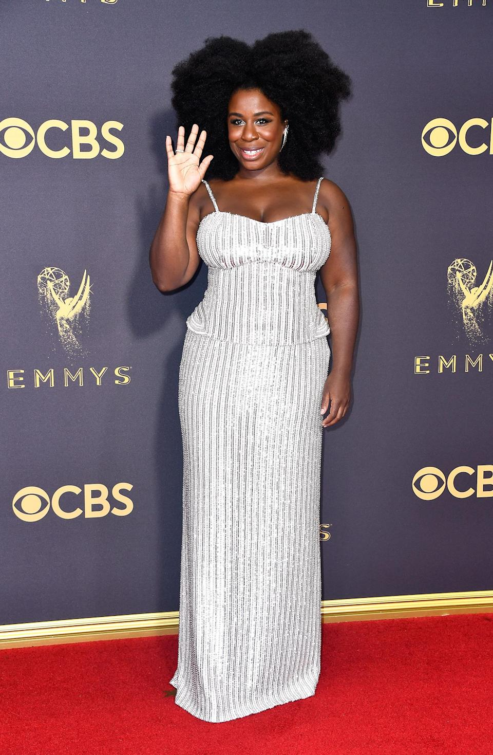 <p>Uzo Aduba attends the 69th Annual Primetime Emmy Awards on September 17, 2017.<br> (Photo: Getty Images) </p>