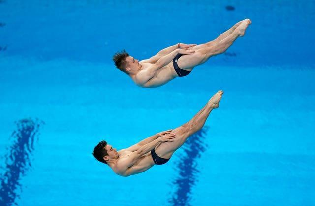 Great Britain's Daniel Goodfellow and Jack Laugher finished seventh in the men's synchronised 3m springboard final