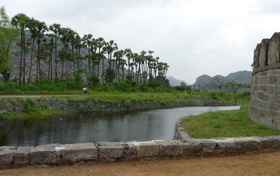 Moat outside the Gingee Fort