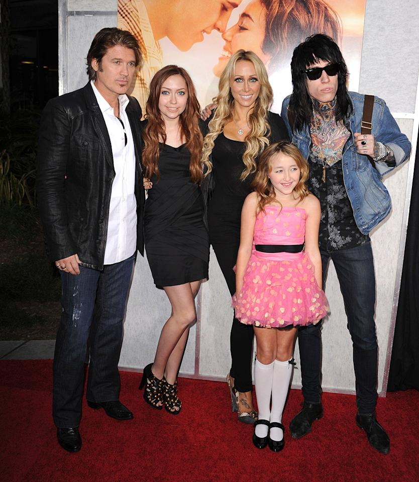 """<a href=""""http://movies.yahoo.com/movie/contributor/1800171289"""">Billy Ray Cyrus</a> and family at the Los Angeles premiere of <a href=""""http://movies.yahoo.com/movie/1810098775/info"""">The Last Song</a> - 03/25/2010"""