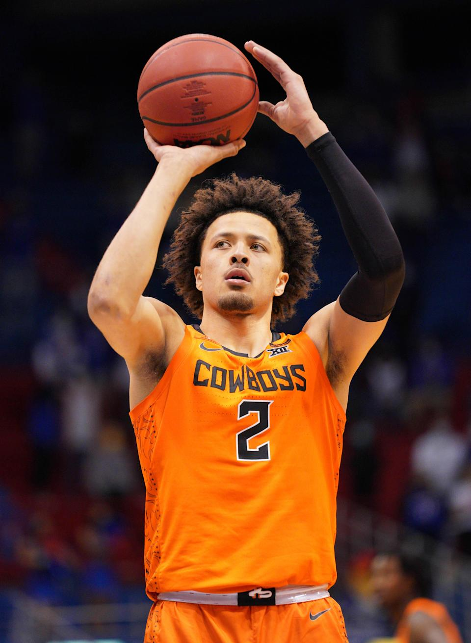 Oklahoma State Cowboys guard Cade Cunningham is still the 1.
