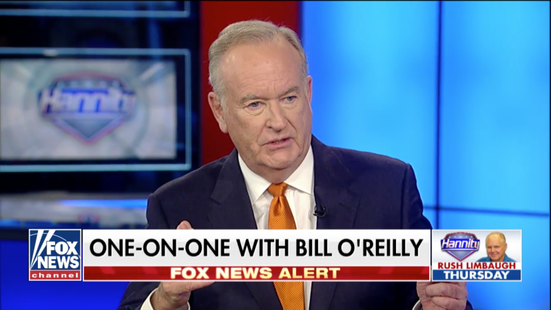 Last month, Bill O'Reilly returned to Fox News to be a guest on Sean Hannity's show.  (Fox News)