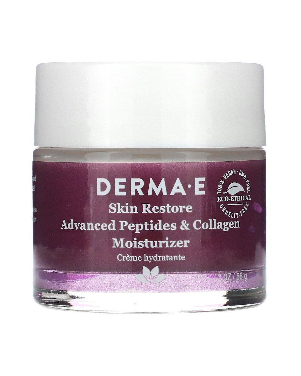 """<p><strong>Derma E</strong></p><p>ulta.com</p><p><strong>$21.00</strong></p><p><a href=""""https://go.redirectingat.com?id=74968X1596630&url=https%3A%2F%2Fwww.ulta.com%2Fadvanced-peptides-collagen-moisturizer%3FproductId%3DxlsImpprod17861003&sref=https%3A%2F%2Fwww.harpersbazaar.com%2Fbeauty%2Fskin-care%2Fg36492997%2Fbest-collagen-creams%2F"""" rel=""""nofollow noopener"""" target=""""_blank"""" data-ylk=""""slk:Shop Now"""" class=""""link rapid-noclick-resp"""">Shop Now</a></p><p>Another affordable option with a growing fanbase, this vegan formula contains multiple skin-strengthening peptides and plant-derived collagen-boosters. Meanwhile, vitamin C and green tea provide a boost of antioxidant protection.</p>"""