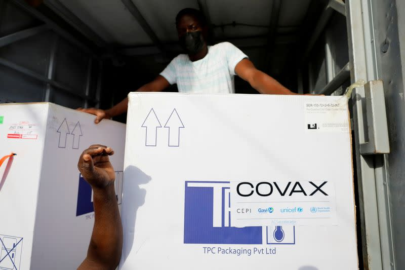 FILE PHOTO: Ghana receives redeployed Congo COVAX shots