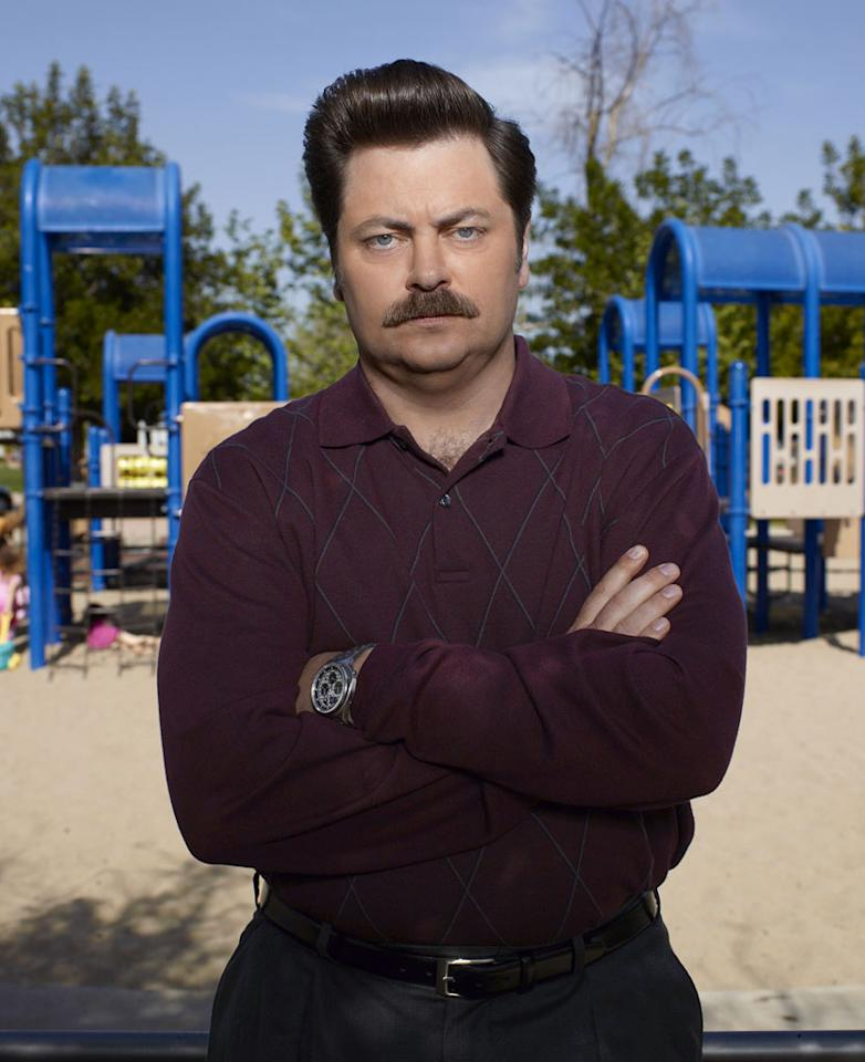 """Ron Swanson (Nick Offerman), """"<a href=""""/parks-recreation/show/42828"""">Parks and Recreation</a>"""""""