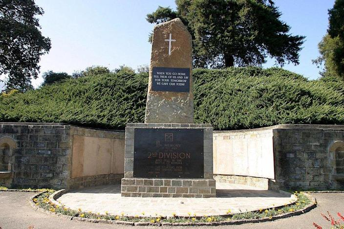 Memorial to the dead at Kohima War Cemetery