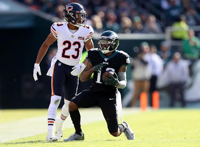 Down and out: Eagles receiver DeSean Jackson will undergo surgery on Tuesday and may be done for the season. (Elsa/Getty Images)