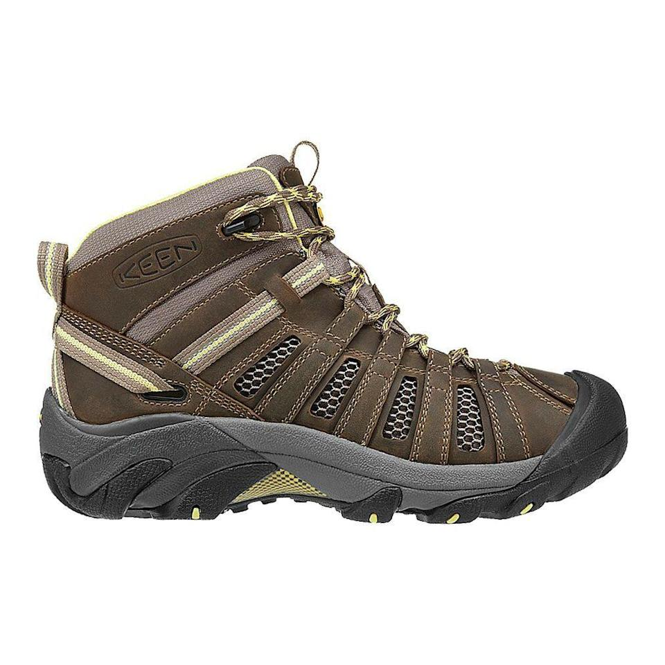 "<p><strong>Visit the KEEN Store</strong></p><p>backcountry.com</p><p><strong>$129.95</strong></p><p><a href=""https://go.redirectingat.com?id=74968X1596630&url=https%3A%2F%2Fwww.backcountry.com%2Fkeen-voyageur-mid-hiking-boot-womens&sref=https%3A%2F%2Fwww.prevention.com%2Ffitness%2Fworkout-clothes-gear%2Fg19791835%2Fbest-hiking-shoes-for-women%2F"" rel=""nofollow noopener"" target=""_blank"" data-ylk=""slk:Shop Now"" class=""link rapid-noclick-resp"">Shop Now</a></p><p>With tons of ankle support, versatile lacing, and a strong grip on your heels, these hiking shoes will keep you steady on even the rockiest landscape. They're not waterproof, but their mesh adds breathability and keeps them surprisingly lightweight—<strong>they weigh in at under a pound each</strong>. ""Just hiked the John Muir Trail in these boots and they look like new,"" one Backcountry shopper says. ""No blisters or even hot spots.""</p>"