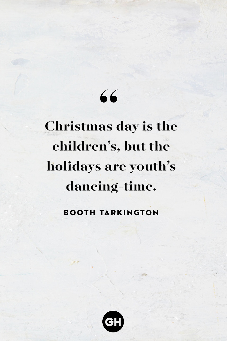 <p>Christmas day is the children's, but the holidays are youth's dancing-time.</p>
