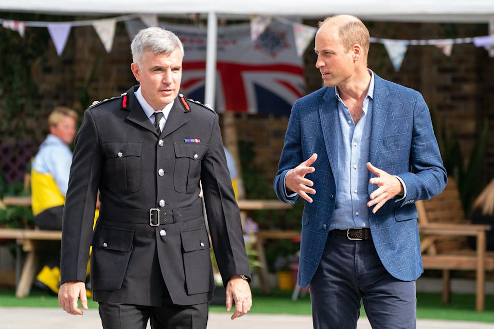 Prince William marking Emergency Services Day in the UK