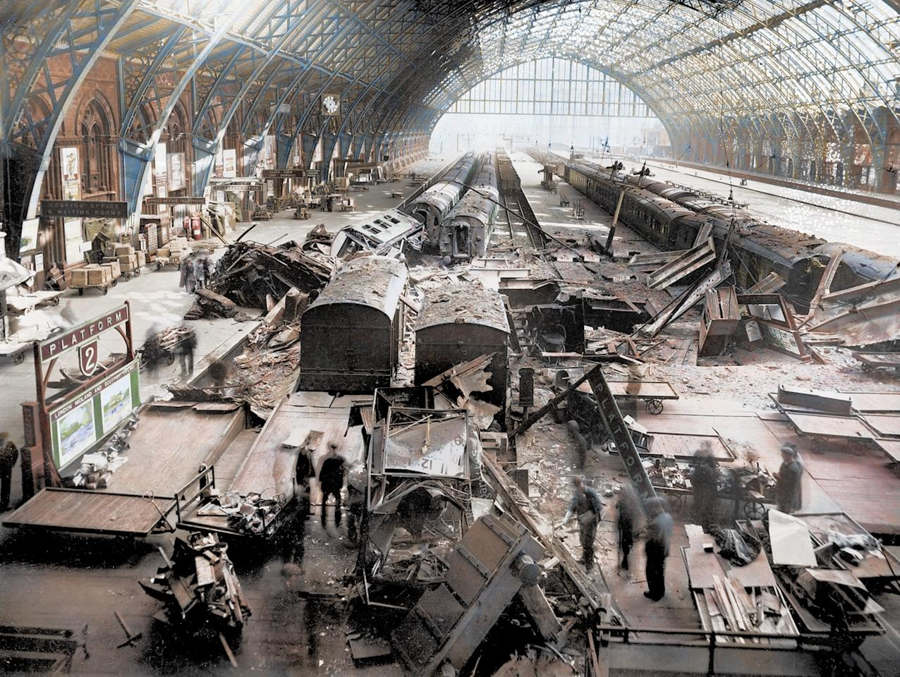 <p>St Pancras station was bombed numerous times,<br /> causing severe damage (Royston Leonard/mediadrumworld.com) </p>