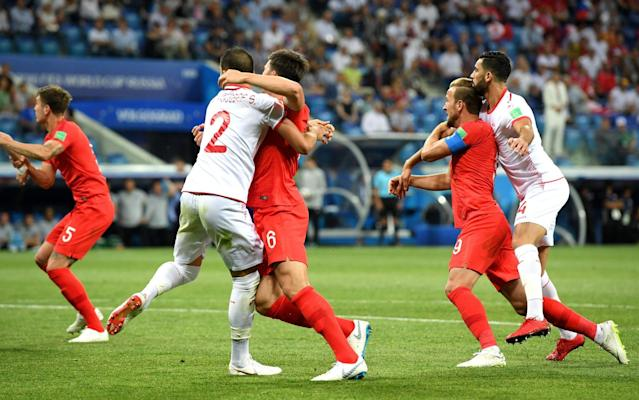 "Fifa is to analyse the failure of video technology to award Harry Kane two penalties in England's opening World Cup win over Tunisia. Amid outrage on social media about the lack of action taken when Ferjani Sassi and Yassine Meriah bundled Kane to the floor during the match in Volgograd, the game's governing body confirmed it would examine whether Video Assistant Referee Sandro Ricci had blundered by not advising Wilmar Roldan to penalise them. Just a day earlier, Fifa had publicly backed all VAR interventions in the opening 11 games of the World Cup, amid another controversial call during Brazil's 1-1 draw against Switzerland. It is understood its referees' chiefs will stage a press conference at some point during Russia 2018 to run through some of the disputed decisions on key incidents in matches, potentially once the group stage is complete. A similar briefing was held on the eve of the World Cup in which video clips were played that had been shown to each team before the tournament of incidents for which there would be zero tolerance. They included grappling in the box, with Fifa's refereeing director, Massimo Busacca, revealing players had been warned there would be nowhere to hide in Russia. One possible reason for Kane not being awarded a penalty for the first incident could be that John Stones appeared to simultaneously push Tunisia's Ellyes Skhiri. For the second, images seem to show Kane had hold of Meriah's arm as the pair tangled. But three former Fifa referees, Keith Hackett, Graham Poll and Mark Clattenburg, all agreed Kane should have been given two spot-kicks. England vs Tunisia Player ratings There was also criticism on social media over a lack of review after Ashley Young appeared to catch Tunisia captain Wahbi Khazri in the face with an elbow. Roldan decided the matter warranted only a lecture. The World Cup has been dogged by VAR controversy and former Premier League referee Mark Halsey said on Tuesday it was not ready to be used at such a high-profile event. He told BBC Radio 5 Live: ""I think there's a lot more training and education to be done because it should not be in this tournament. ""They should be looking at it to bring it in for the 2022 qualifying stages and then into the tournament."" World Cup 2018 
