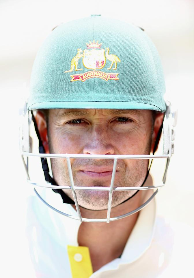 BRISBANE, AUSTRALIA - NOVEMBER 13:  Michael Clarke of Australia walks out to bat during day five of the First Test match between Australia and South Africa at The Gabba on November 13, 2012 in Brisbane, Australia.  (Photo by Ryan Pierse/Getty Images)