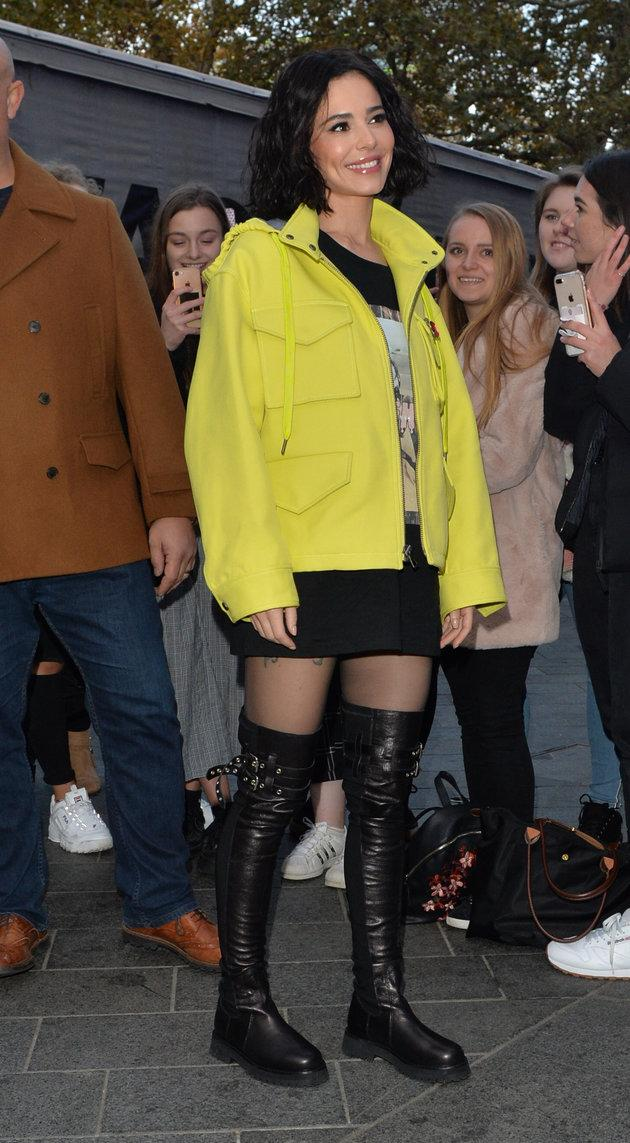 Cheryl arriving at Capital Radio last week