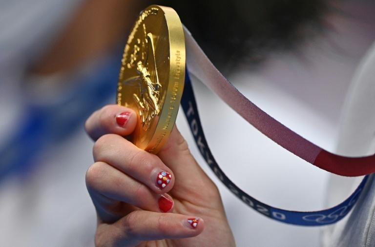 Katie Ledecky won the inaugural women's 1500m gold medal