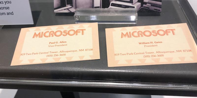 Check out bill gates first business card at microsoft from after bill gates business card microsoft colourmoves