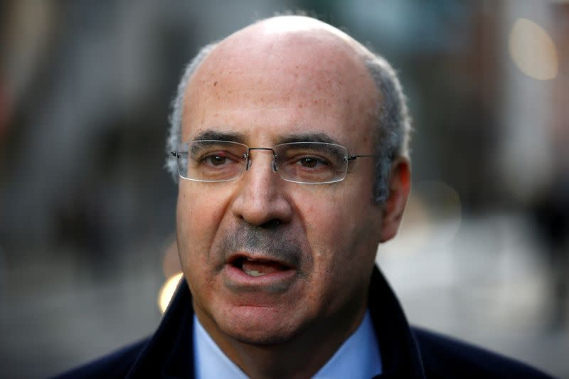 FILE PHOTO: Businessman Bill Browder speaks to reporters after a court hearing in London