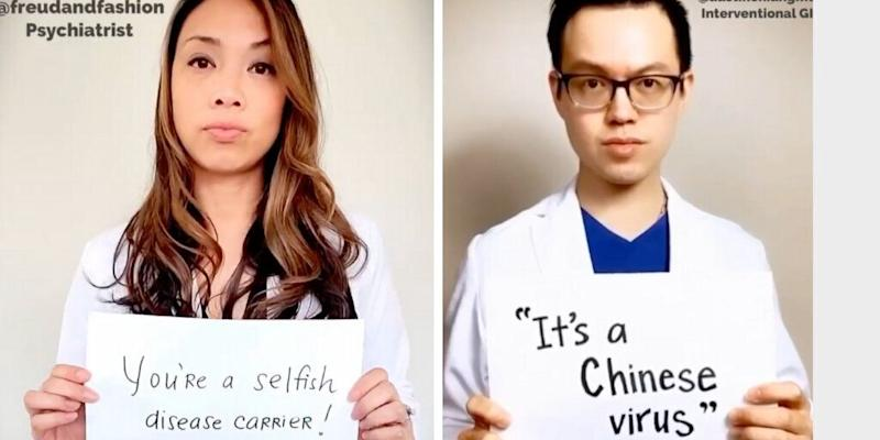 "Psychiatrist <a href=""https://www.instagram.com/freudandfashion/"" target=""_blank"" rel=""noopener noreferrer"">Vania Manipod</a> and physician Austin Chiang are among the participants in the video spotlighting racism spurred by the coronavirus pandemic. (Photo: Instagram )"