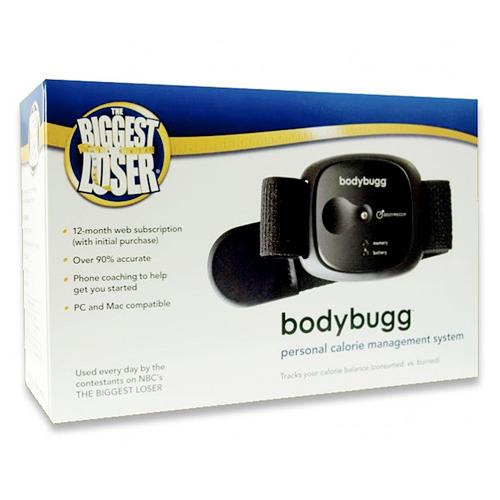 """<a href=""""http://www.nbcuniversalstore.com/the-biggest-loser-bodybugg-system-includes-12-month-online-subscription/detail.php?p=255661&v=nbc_the-biggest-loser"""" target=""""_blank"""" rel=""""nofollow"""">""""The Biggest Loser"""" Bodybugg</a> ($399) — If you've got a fitness fan in your family who likes to know exactly how many calories they're burning walking to and from the TV, this might be the perfect gift. It's the cute little gadget that all of the """"<a href=""""/biggest-loser/show/37103"""">Biggest Loser</a>"""" contestants perpetually wear to help them shed, like, 100 lbs. a week."""