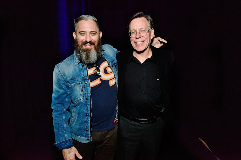 DECEMBER 03 - LOS ANGELES: Filmmaker Jeremy Corbell and Bob Lazar attend Los Angeles Special Screening Of Documentary 'Bob Lazar: Area 51 & Flying Saucers' at The Ace Hotel on December 3, 2018 in Los Angeles, California. (Photo by Jerod Harris/Getty Images)
