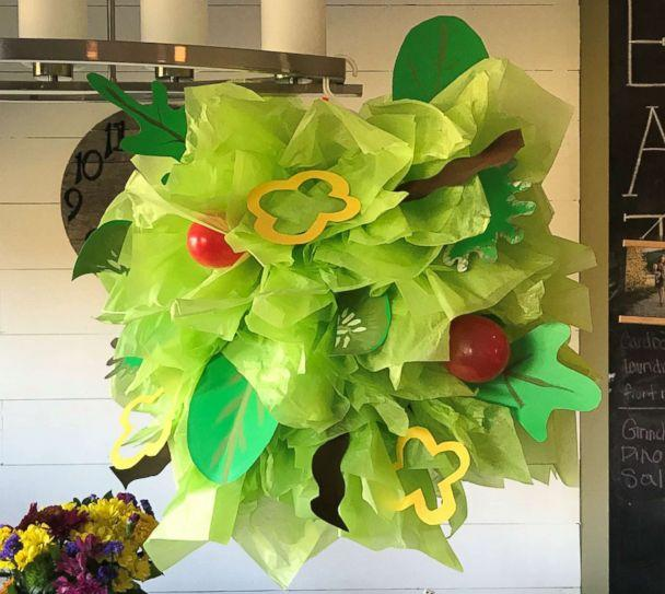 PHOTO: A salad Halloween costume made by Danielle Bevens is pictured here. (Danielle Bevens)