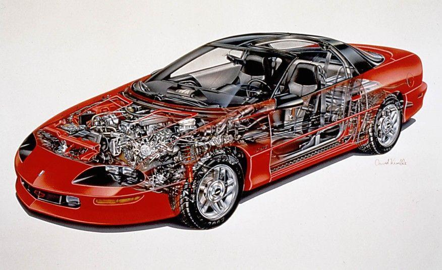 """<p>With rack-and-pinion steering, a new 275-hp 5.7-liter V-8 wearing the LT1 name, and an available six-speed manual transmission, the fourth-generation Camaro Z28 was a startling performer. """"(A)ny 3452-pound car that clears the quarter-mile in 14.0 seconds at 100 mph and circles the skidpad at 0.92 g is a tremendous performer,"""" wrote <em>C/D</em>'s Patrick Bedard in a <a href=""""http://www.caranddriver.com/comparisons/1993-ford-mustang-cobra-vs-1993-pontiac-firebird-formula-1993-chevrolet-camaro-z28-comparison-test"""" rel=""""nofollow noopener"""" target=""""_blank"""" data-ylk=""""slk:comparison test that the new Z28 won"""" class=""""link rapid-noclick-resp"""">comparison test that the new Z28 won</a>.</p>"""