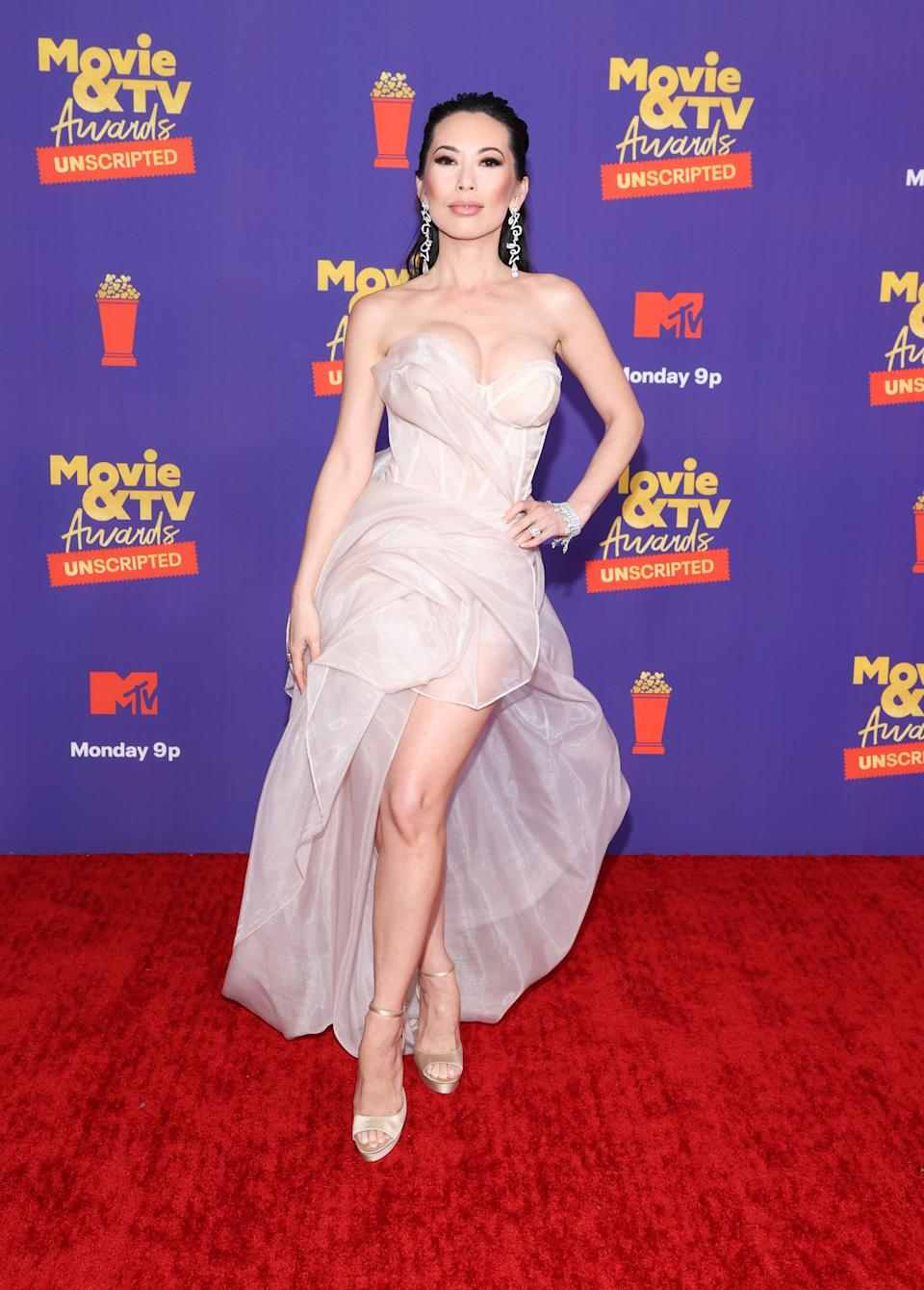 LOS ANGELES, CALIFORNIA - MAY 17: In this image released on May 17, Christine Chiu attends the 2021 MTV Movie & TV Awards: UNSCRIPTED in Los Angeles, California. (Photo by Amy Sussman/Getty Images)