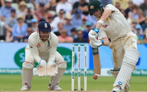 <span>Steve Smith middles yet another one in Birmingham</span> <span>Credit: AFP </span>