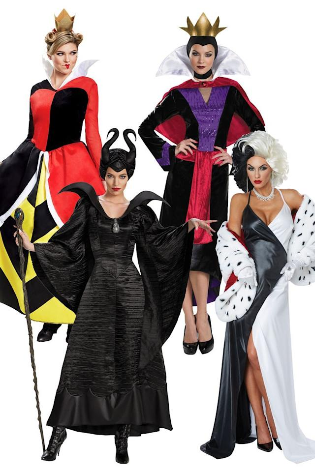 """<p>$40+</p><p><a class=""""body-btn-link"""" href=""""https://go.redirectingat.com?id=74968X1596630&url=https%3A%2F%2Fwww.halloweencostumes.com%2Fadult-disney-costumes.html%3Fg%3D3&sref=http%3A%2F%2Fwww.womansday.com%2Flife%2Fg3083%2Fbest-group-halloween-costumes%2F"""" target=""""_blank"""">Shop Now </a></p><p>Going to the dark side is OK if it's only for the night... right?</p>"""
