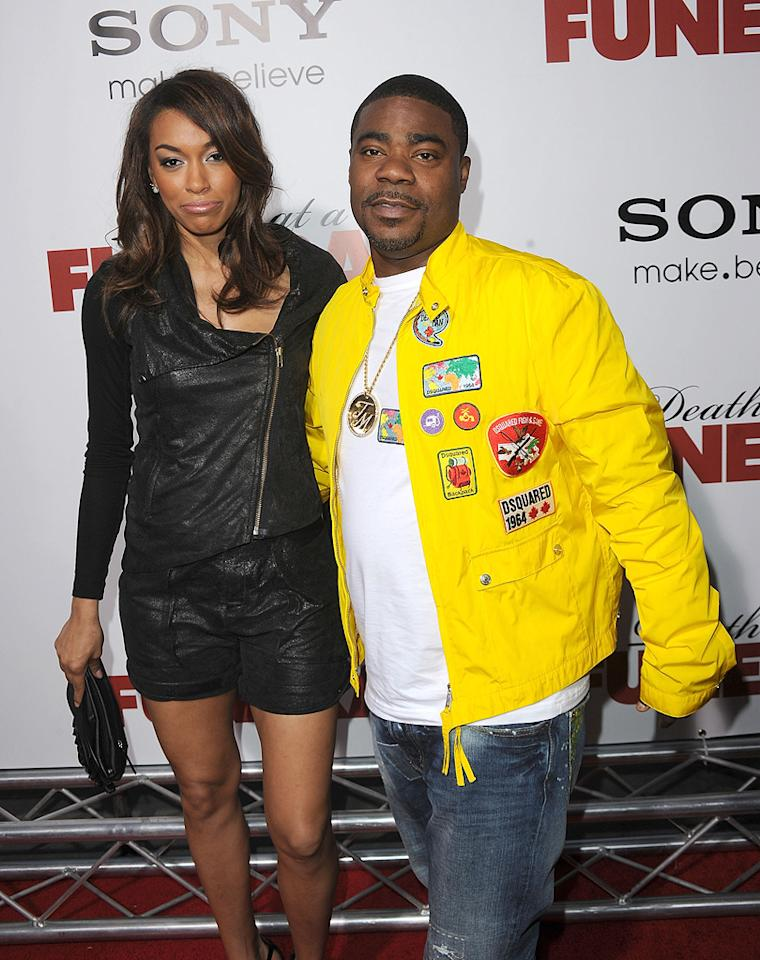 """<a href=""""http://movies.yahoo.com/movie/contributor/1804385094"""">Tracy Morgan</a> and guest at the Los Angeles premiere of <a href=""""http://movies.yahoo.com/movie/1810077967/info"""">Death at a Funeral</a> - 04/12/2010"""