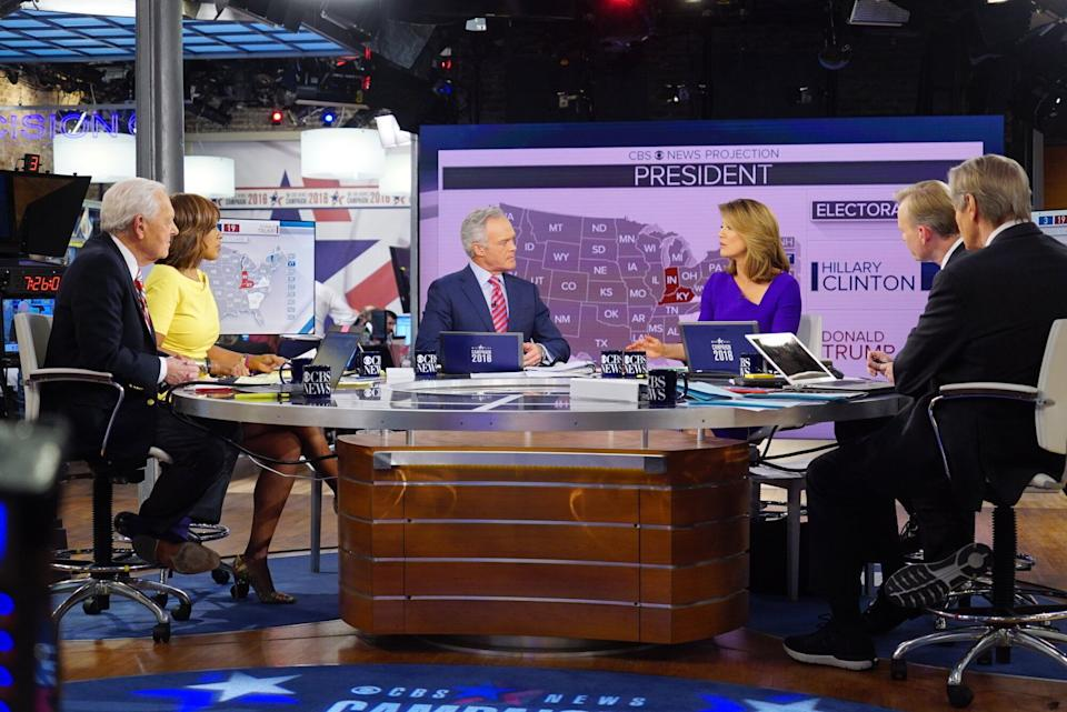 CBS News covers the results of the 2016 presidential election on Nov. 8, 2016. (Photo: Michele Crowe/CBS via Getty Images)