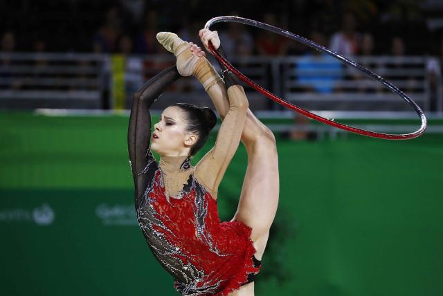 Rhythmic Gymnastics - Gold Coast 2018 Commonwealth Games - Individual Hoop Final - Coomera Indoor Sports Centre - Gold Coast, Australia - April 13, 2018. Diamanto Evripidou of Cyprus. REUTERS/David Gray