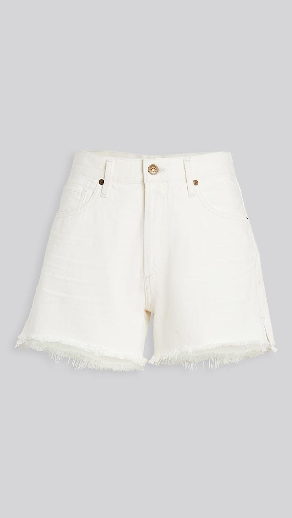 "<p>These <a href=""https://www.popsugar.com/buy/Citizens-Humanity-Marlow-Easy-Shorts-587726?p_name=Citizens%20of%20Humanity%20Marlow%20Easy%20Shorts&retailer=shopbop.com&pid=587726&price=188&evar1=fab%3Aus&evar9=45988379&evar98=https%3A%2F%2Fwww.popsugar.com%2Ffashion%2Fphoto-gallery%2F45988379%2Fimage%2F47603862%2FCitizens-Humanity-Marlow-Easy-Shorts&list1=shopping%2Cdenim%2Cshorts%2Csummer%2Cdenim%20shorts%2Csummer%20fashion&prop13=mobile&pdata=1"" class=""link rapid-noclick-resp"" rel=""nofollow noopener"" target=""_blank"" data-ylk=""slk:Citizens of Humanity Marlow Easy Shorts"">Citizens of Humanity Marlow Easy Shorts</a> ($188) look so good on.</p>"