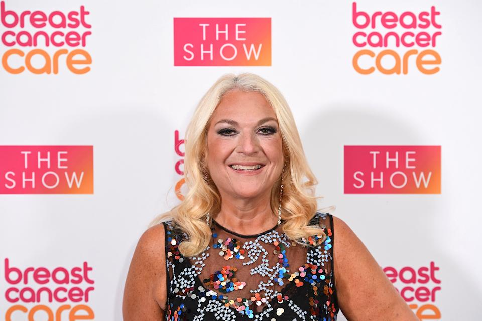 LONDON, ENGLAND - OCTOBER 03: Vanessa Feltz attends the Breast Cancer Care London Fashion Show at Park Plaza Westminster Bridge Hotel on October 03, 2019 in London, England. (Photo by Jeff Spicer/Getty Images for Breast Cancer Care)