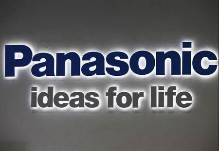 A logo of Panasonic Corp is pictured at its showroom in Tokyo