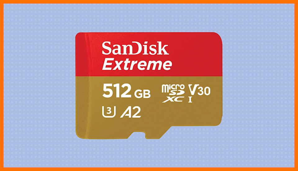 Save 50 percent—SanDisk 512GB Extreme microSDXC UHS-I Memory Card. (Photo: Amazon)