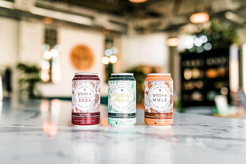 "<p><strong>You & Yours</strong></p><p>thirdbasemarketandspirits.com</p><p><strong>$13.99</strong></p><p><a href=""https://thirdbasemarketandspirits.com/products/you-yours-cranberry-vodka-soda-4-pack"" rel=""nofollow noopener"" target=""_blank"" data-ylk=""slk:BUY NOW"" class=""link rapid-noclick-resp"">BUY NOW</a></p><p>Whether you prefer vodka soda, <a href=""https://thirdbasemarketandspirits.com/products/you-yours-gin-tonic-4-pack"" rel=""nofollow noopener"" target=""_blank"" data-ylk=""slk:gin and tonic"" class=""link rapid-noclick-resp"">gin and tonic</a>, or a mule, you don't have to worry about taking your go-to cocktail on the go thanks to You & Yours. These delicious canned drinks are not only perfect for ocean or poolside lounging, but they're even more Instagrammable. Look how pretty the cans are!</p>"