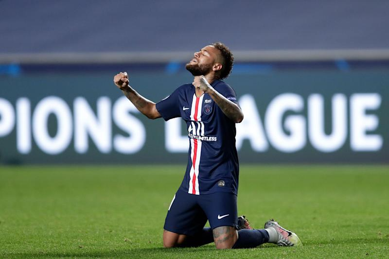 Neymar came to Paris Saint-Germain for a shot at his own Champions League glory, which is what he'll get in Sunday's final. (Photo by MANU FERNANDEZ/POOL/AFP via Getty Images)
