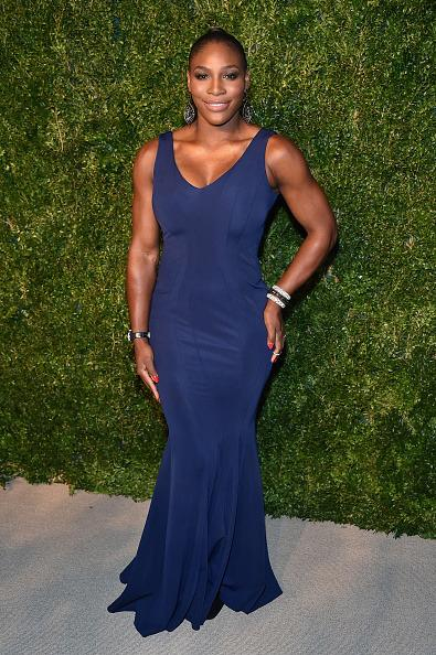 <p>At the 11th annual Vogue Fashion Fund awards Serena shows off her incredible figure in this fitting blue dress.<i> [Photo:Theo Wargo/Getty Images]</i></p>