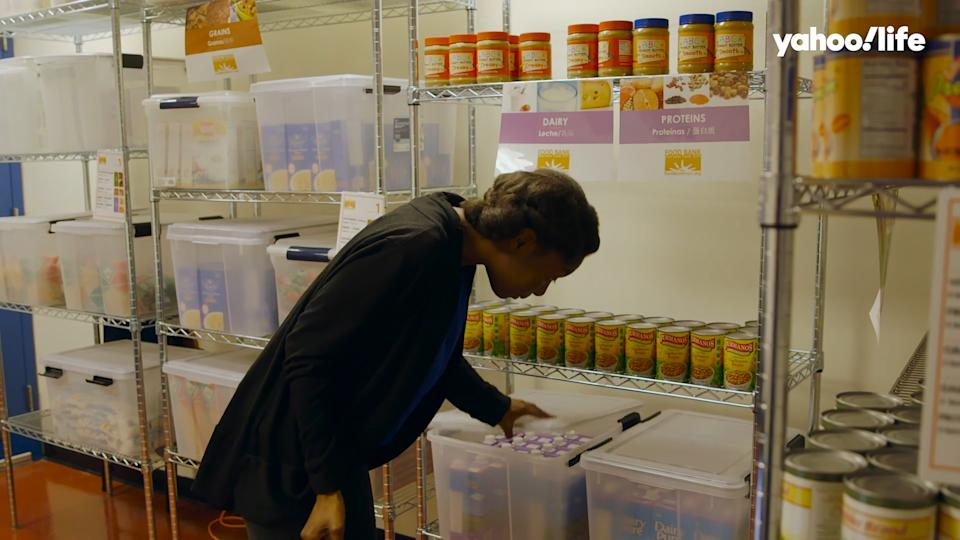 Some of the more than 650 food pantries on campuses shut down or scaled back during the coronavirus pandemic, leaving many students in need with few options for food. (Photo: Soledad O'Brien Productions)