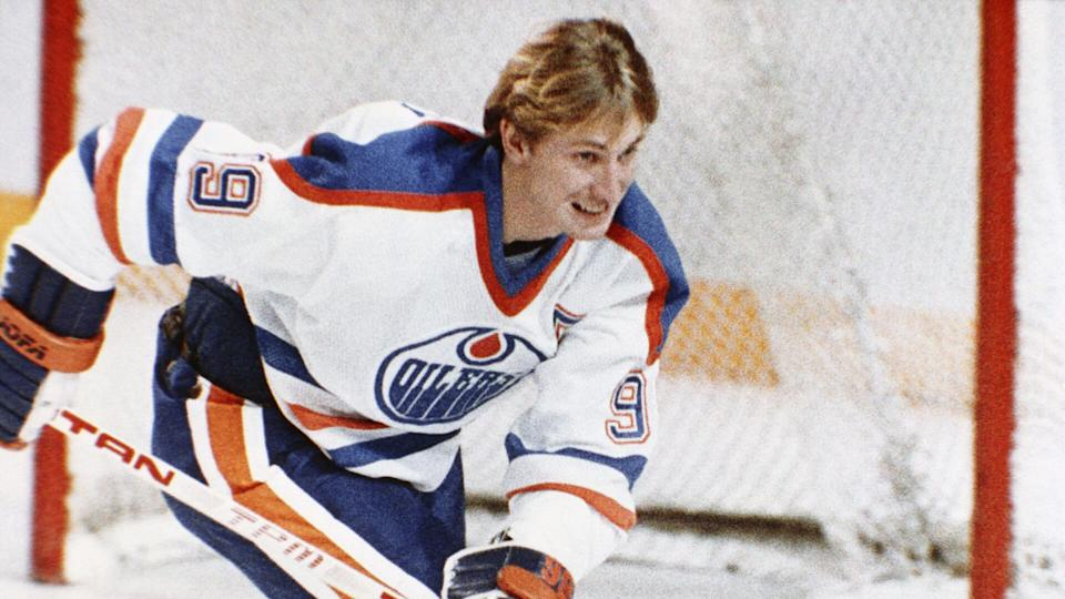 Mandatory Credit: Photo by AP/Shutterstock (7387618a)Wayne Gretzky Hockey player for Edmonton Oilers Wayne Gretzky in action in January 1984Wayne Gretzky.