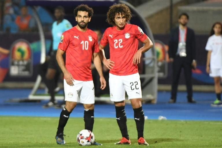 Mohamed Salah has been criticised for his perceived support for Amr Warda (R) who was thrown out of the Egypt squad following sexual harassment claims before being reinstated