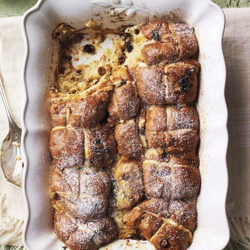 """<p>This Easter pudding couldn't be simpler to make or more delicious to eat.</p><p><strong>Recipe: </strong><a href=""""https://www.goodhousekeeping.com/uk/food/recipes/hot-cross-pudding"""" rel=""""nofollow noopener"""" target=""""_blank"""" data-ylk=""""slk:Hot cross pudding"""" class=""""link rapid-noclick-resp""""><strong>Hot cross pudding</strong></a><br><br><br><br></p>"""
